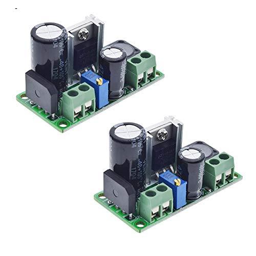 2Pcs AC/DC to DC Step Down Buck Converter AC 5-30V DC 5-48V 24V 36V 48V to DC 2.5-35V 12V Voltage Regulator Board 2A Adjustable Volt Power Supply Module Delinx