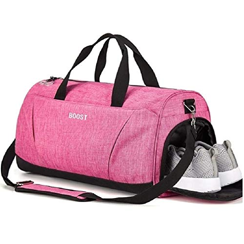 Sports Gym Bag with Shoes Compartment for Women