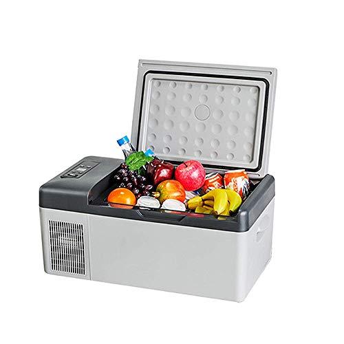 Auto Koelkast, Auto Dual-Use 12V / 24V Universal 15L Frozen Kleine Koelkast Compressor Koeling Dual Temperature Control Met LCD-Scherm + APP (20 ° C ~ -20 ° C)