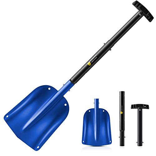 Best Price ORIENTOOLS Snow Shovel with 3 Piece Collapsible Design, Aluminum Lightweight Sport Utilit...