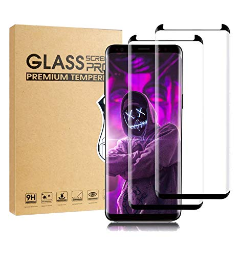 Galaxy S8 Plus Screen Protector,[2 Pack]ZUO XI Tempered Glass with Anti-Fingerprint, Bubble Free, 9H Hardness,HD Screen Protector Film for Samsung Galaxy S8 Plus[Black]