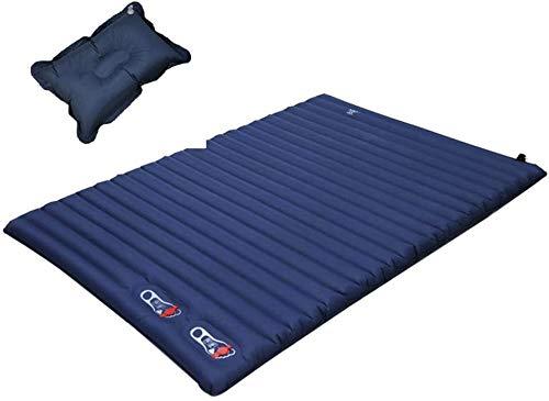 CHSDN Dormir de la Estera Ultra Cama Impermeable a Prueba de Humedad Que acampa Ligero colchón Inflable portátil Plegable Doble