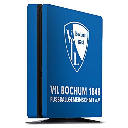 DeinDesign Skin kompatibel mit Sony Playstation 4 PS4 Slim Folie Sticker VFL Bochum Offizielles Lizenzprodukt Fußball