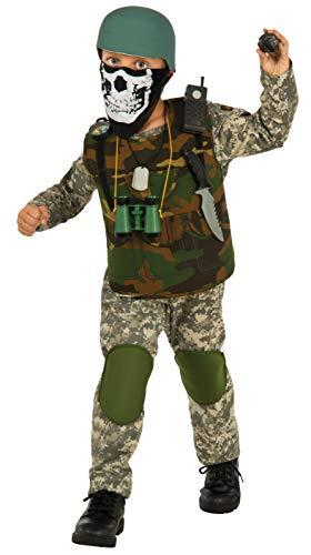 Deluxe Child Camo Trooper Costume, Large