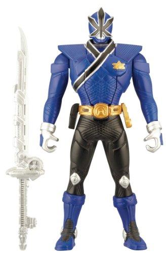 Power Rangers Samurai – Mega Ranger Bleu Transformable – Figurine 16 cm