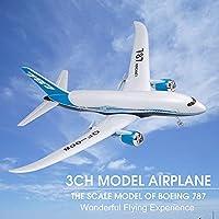 ボーイング787モデル, Explopur QF008ボーイング787飛行機ミニチュア模型飛行機3CH 2.4GリモートコントロールEPP飛行機RTF RC玩具