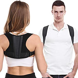 Posture Corrector For Men And Women, Adjustable Upper Back Brace For Clavicle Support, Thoracic Kyphosis and Providing Pai...