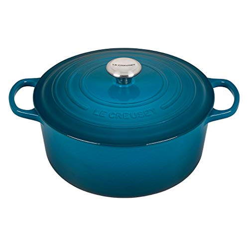 Le Creuset Enameled Cast Iron Dutch Oven, 7.25 qt., Deep Teal