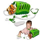 My Little Vet Maletín Veterinario - Set Bebé Tigre de Deluxebase. Kit Veterinario de Juguete para niños. Un Lindo Kit con diseño de Animales Ideal para Juegos de simulación.