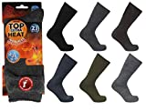 SMG Mens Extra Thick Warm 2.3 Tog Heat Insulated Brushed Thermal Socks Multi Pack UK 6-11 / EU 39-45 (3)