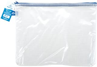 "Alvin, PVC Clear Mesh Kit Bag, Zippered Top Pen Pouch - 10"" x 13"" (B000HFUEFY) 