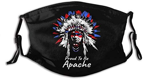 kangyuan Einstellbare Mundschutz Stolz darauf, Apache-Masken zu Sein Austauschbare Filter-Sturmhauben