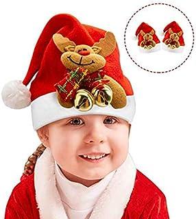 SAPU 6pcs Christmas Santa Hats for Unisex Kids, Christmas Holiday Hats for Children, Baby Christmas Santa Hats,Xmas Party ...