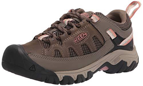 KEEN Women's Targhee Vent Low Height Water Resistant Hiking Shoe, Stone Grey/Brick Dust, 5 M (Medium) US