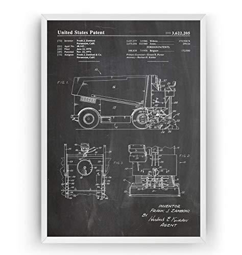 Máquina de Repavimentación de Hielo 1971 Poster de Patente ...