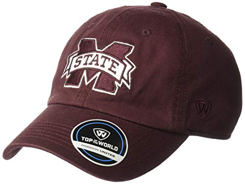 Top of the World Mississippi State Bulldogs Men's Hat Icon, Maroon, Adjustable