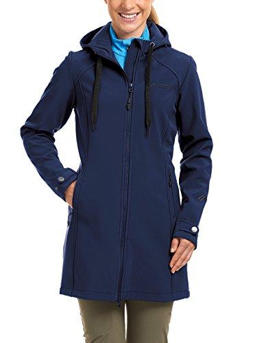 maier sports Damen Softshell Mantel Mim, medieval blue, 40