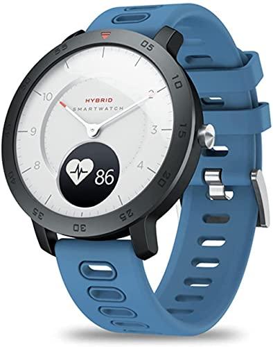 wyingj Reloj inteligente híbrido información de energía pantalla llamada recordatorio pulsera inteligente-A