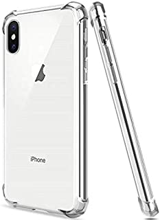 Crystal Clear iPhone 8XS Max Case, Slim fit and Shockproof, Soft Corner Bumpers, TPU Anti Yellowing