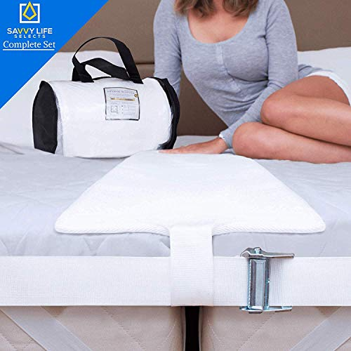 Savvy Life Selects Bed Bridge Connector Twin XL (Ultra Wide) 12 Inch Non-Slip Design | Adjustable Mattress Connector | Twin to King Converter Kit | 25D Memory Foam Mattress Extender | Storage Bag