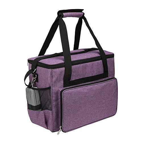 Xeroy Caso de la máquina de coser, portátil bolsa impermeable con cremallera, Máquina de coser bolsa de almacenamiento Púrpura