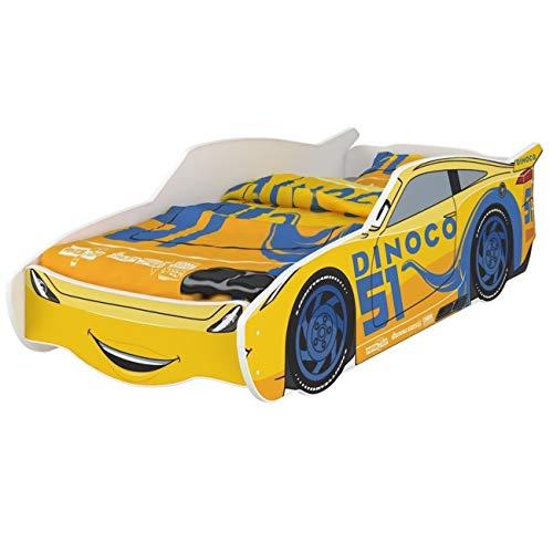 iGLOBAL Dinoco Epilogue Cruz Cars 3 Lightning McQueen Cama infantil diseño coche de carreras con somier y colchón Muebles Para Niños 160 x 80 cm