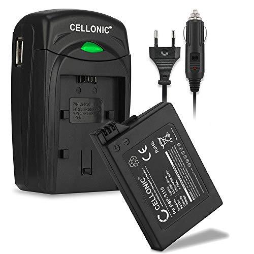 CELLONIC® Batería Premium Compatible con Sony PSP Brite (3000/3004) / PSP Slim & Lite (2000/2004), PSP-S110 1200mAh + Cargador Pila Repuesto bateria