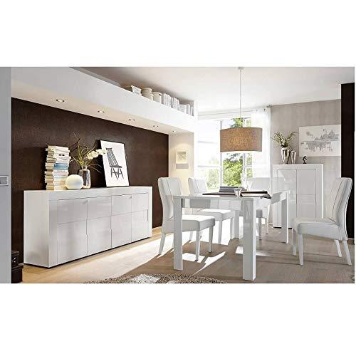 AZURA HOME DESIGN Esszimmer Komplettset Easy – Silber: ohne