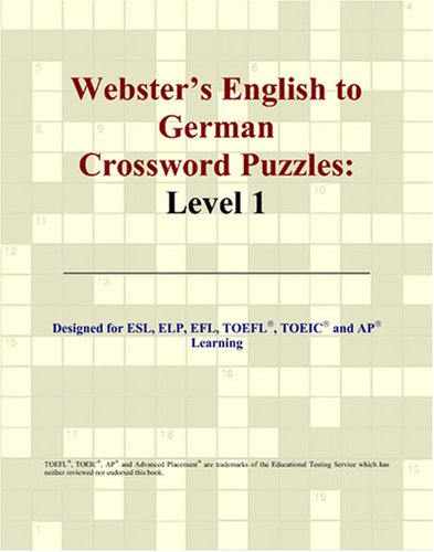 Webster's English to German Crossword Puzzles: Level 1