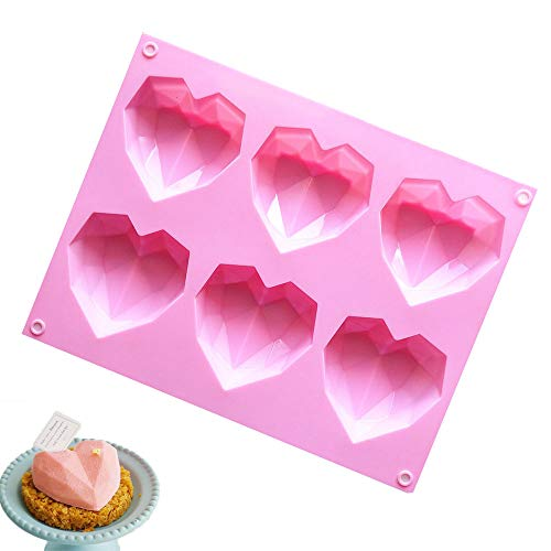 6-Cavity Silicone Cake Mold, Cupcake Pan, Baking Molds, Mini Pie Pan for Baking, Cooking Muffin, Cake Pie, Bread for breakfast