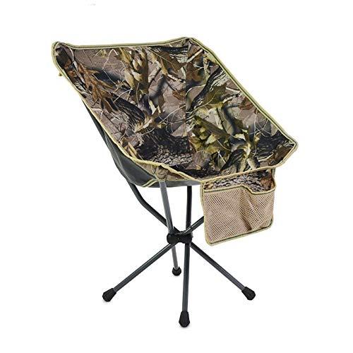WPCBAA Outdoor draagbare opklapbare stoel rugzak stoel mini terug vissen maan stoel schets strand campingstoel