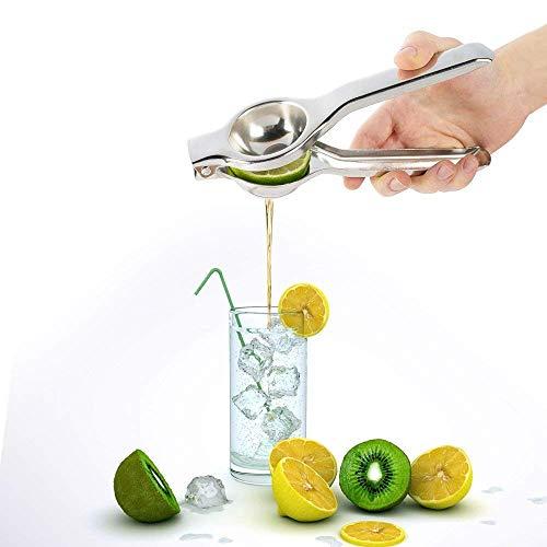 Exprimidor de Limon Exprimidor de Cítricos Acero Inoxidable Plata Prensa de Mano...