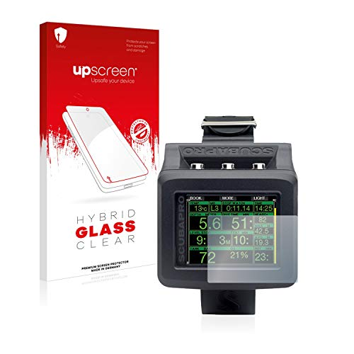 upscreen Hybrid Glass Panzerglas Schutzfolie kompatibel mit Uwatec Galileo G2 9H Panzerglas-Folie