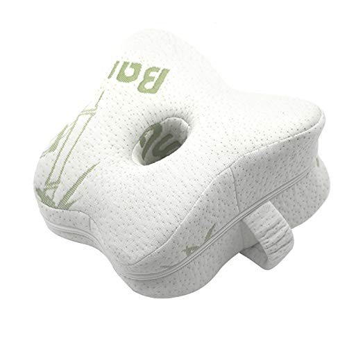 Almohada para piernas Almohada ortopédica de espuma viscoelástica para el cuerpo Posicionador de rodilla Almohadas para piernas para el cuerpo Cojín de apoyo para acostarse lateralmente para las piern