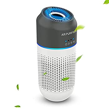 Mini Portable Car Air Purifier - True HEPA Filter Cleans Air with 4-Stage Filtration,Ideal for Traveling Home Car and Office Use