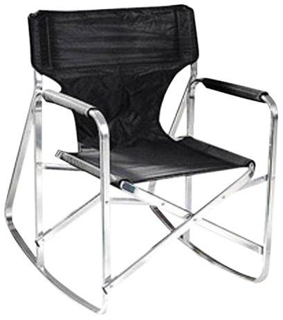 Ming's Mark Stylish Camping SL1205BLACK Rocking Full Back Folding Director's Chair