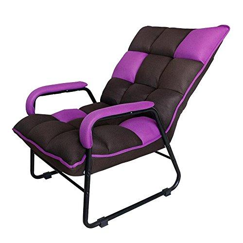 Xiaolin Casual Pliable Paresseux canapé Lavable Salon Balcon déjeuner Pause Tissu Art allongé Chaise (Couleur : Purple)