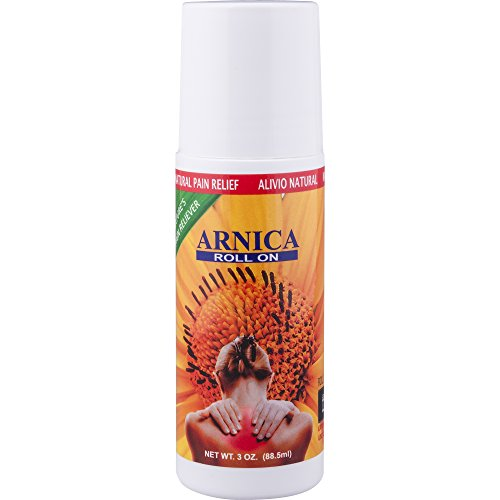 Arnica Pain Relief Roll On, 3 oz - Max Strength, Fast Acting Muscle Rub Ointment, Clear Gel, for Back Pain Relief, Joint Pain, Neck, Knee, Foot Pain, Leg Cramps (3oz)