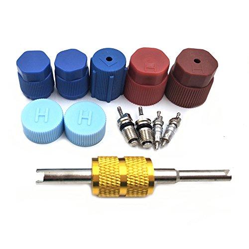 Nikauto 1set de tapa de coche y válvula de aire acondicionado kit de sello R12 R134a piezas de repuesto Auot AC compresor de reparación de piezas