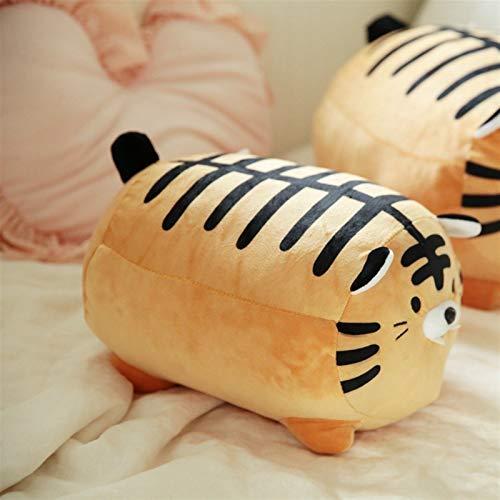 Xpccj Funda de cojín con diseño de tigre/cebra, suave de peluche, diseño de tigre y cebra, para sofá, para niños, regalo de cumpleaños (color: tigre, altura: 35 cm)