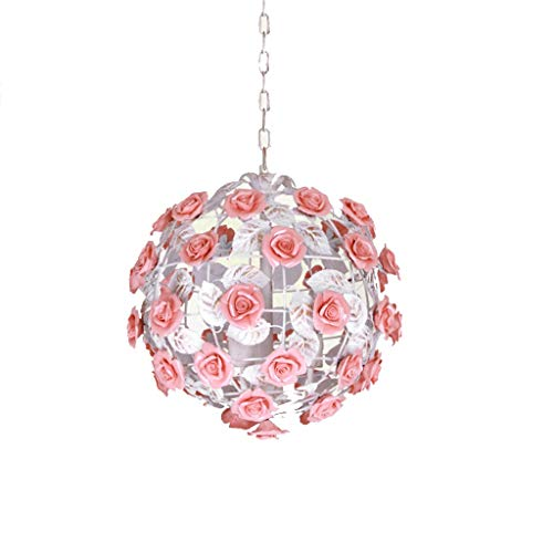 Yyqx Lámparas Colgantes Idílica de la lámpara Light Rose Comedor Lámpara de Habitaciones Dormitorio de la lámpara Princesa Lámpara Lámpara Lámpara de Techo Colgante