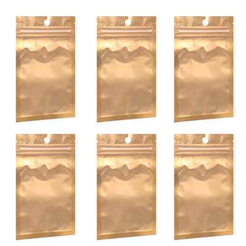 TOYANDONA 100 Stücke Alubeutel Druckverschlussbeutel Geschenkbeutel Kekstüten Gebäcktüten Schmuckbeutel Plastiktüten Mylar Vakuumbeutel für Lebensmittel Blumen Tee