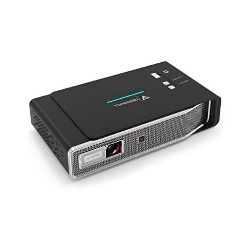 Tenswall 4K Vidéoprojecteur, 3800 Lumens Mini DLP Projecteur Portable Soutien DLP Link 3D, 12000:1, Max300 Cinéma Maison avec...