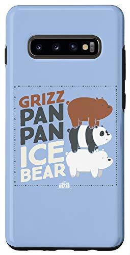 Galaxy S10+ We Bare Bears Grizz Pan Pan Ice Bear Case