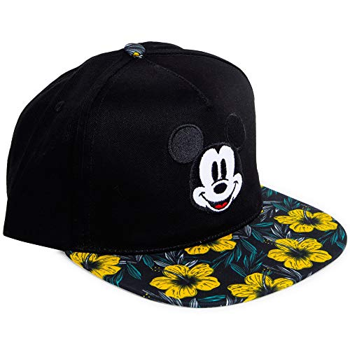 Disney Mickey Mouse Hibiscus Floral Flower Baseball Cap Hat Adults