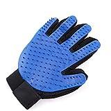 zhoumaoshunkeji Haustier-Hundepflegehandschuh-Haarentfernungshandschuh-Haar-Handschuh Deshedding-Handschuh blau JBP-X (ZMSKJ) -