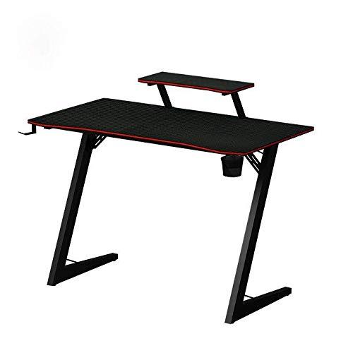 N\B Escritorio para juegos de mesa ergonómica de 43 pulgadas, mesa de juegos de madera maciza, color negro