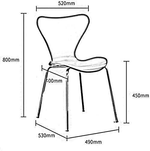 WY Moderne Minimaliste plastique Conférence métal Leg étudiant brillant Couleurs vives Chaise Design Dossier Prévient plastique + tuyaux en acier (Color : Brown) Black