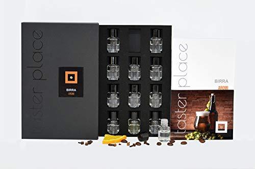 Tasterplace   Aromi birra   Italiano   kit sommelier   kit aromi birra  allena l'olfatto   12 essenze   degustazione  