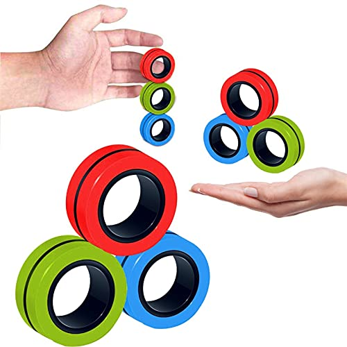 ZQSM Toy,Fidget Toys, Funny Fidget Spinner Magnetic Bracelet Ring Unzip Toy Magic Ring Props Tools Anti Stress Figet Toys Stress Child Toys Relief (Color : B)